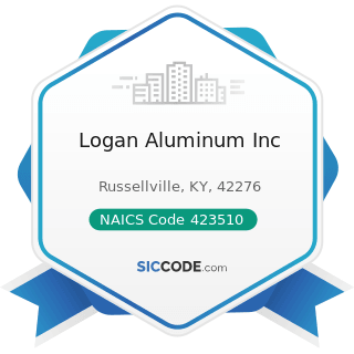 Logan Aluminum Inc - NAICS Code 423510 - Metal Service Centers and Other Metal Merchant...
