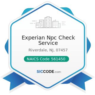 Experian Npc Check Service - NAICS Code 561450 - Credit Bureaus