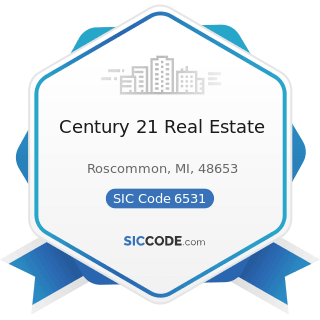 Century 21 Real Estate - SIC Code 6531 - Real Estate Agents and Managers