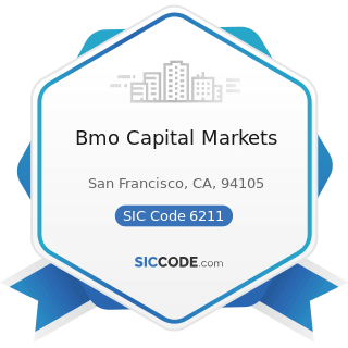 Bmo Capital Markets - SIC Code 6211 - Security Brokers, Dealers, and Flotation Companies