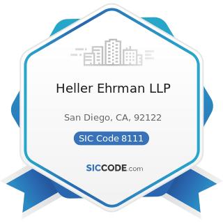 Heller Ehrman LLP - SIC Code 8111 - Legal Services