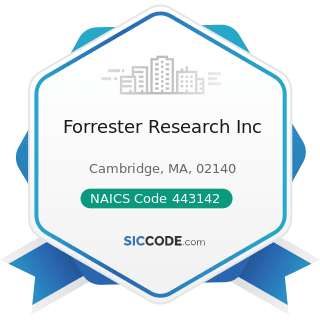 Forrester Research Inc - NAICS Code 443142 - Electronics Stores