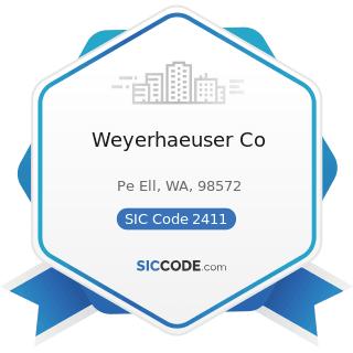 Weyerhaeuser Co - SIC Code 2411 - Logging