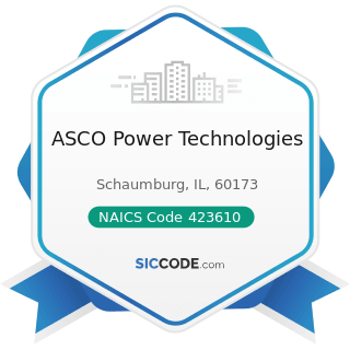 ASCO Power Technologies - NAICS Code 423610 - Electrical Apparatus and Equipment, Wiring...