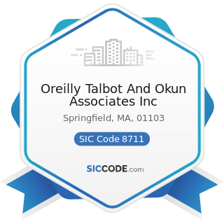 Oreilly Talbot And Okun Associates Inc - SIC Code 8711 - Engineering Services