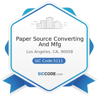 Paper Source Converting And Mfg - SIC Code 5111 - Printing and Writing Paper