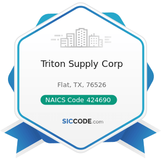 Triton Supply Corp - NAICS Code 424690 - Other Chemical and Allied Products Merchant Wholesalers