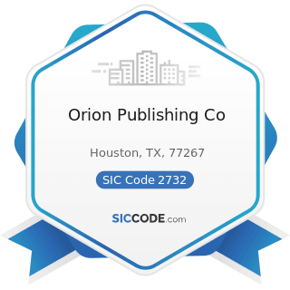 Orion Publishing Co - SIC Code 2732 - Book Printing