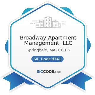 Broadway Apartment Management, LLC - SIC Code 8741 - Management Services