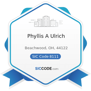 Phyllis A Ulrich - SIC Code 8111 - Legal Services