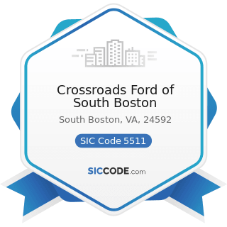 Crossroads Ford of South Boston - SIC Code 5511 - Motor Vehicle Dealers (New and Used)