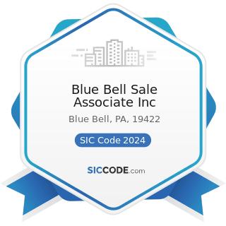 Blue Bell Sale Associate Inc - SIC Code 2024 - Ice Cream and Frozen Desserts