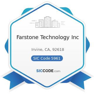 Farstone Technology Inc - SIC Code 5961 - Catalog and Mail-Order Houses