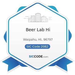 Beer Lab Hi - SIC Code 2082 - Malt Beverages