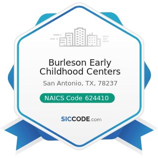 Burleson Early Childhood Centers - NAICS Code 624410 - Child Day Care Services