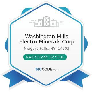Washington Mills Electro Minerals Corp - NAICS Code 327910 - Abrasive Product Manufacturing