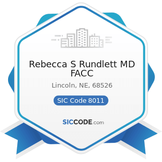 Rebecca S Rundlett MD FACC - SIC Code 8011 - Offices and Clinics of Doctors of Medicine