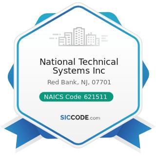 National Technical Systems Inc - NAICS Code 621511 - Medical Laboratories