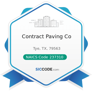 Contract Paving Co - NAICS Code 237310 - Highway, Street, and Bridge Construction