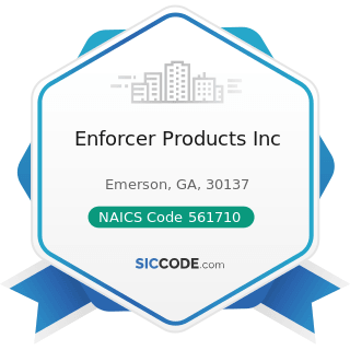 Enforcer Products Inc - NAICS Code 561710 - Exterminating and Pest Control Services