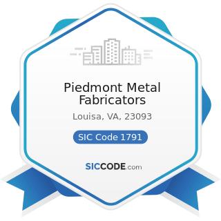 Piedmont Metal Fabricators - SIC Code 1791 - Structural Steel Erection