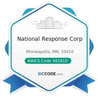 National Response Corp - NAICS Code 562910 - Remediation Services