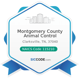 Montgomery County Animal Control - NAICS Code 115210 - Support Activities for Animal Production