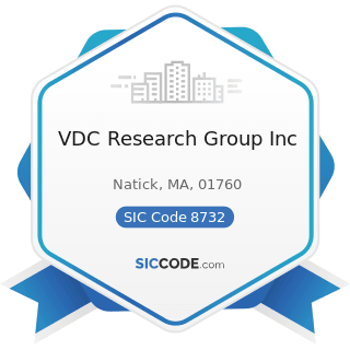 VDC Research Group Inc - SIC Code 8732 - Commercial Economic, Sociological, and Educational...