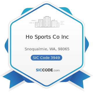 Ho Sports Co Inc - SIC Code 3949 - Sporting and Athletic Goods, Not Elsewhere Classified