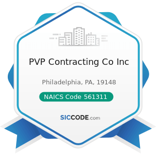 PVP Contracting Co Inc - NAICS Code 561311 - Employment Placement Agencies