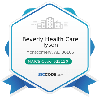 Beverly Health Care Tyson - NAICS Code 923120 - Administration of Public Health Programs