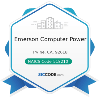 Emerson Computer Power - NAICS Code 518210 - Data Processing, Hosting, and Related Services