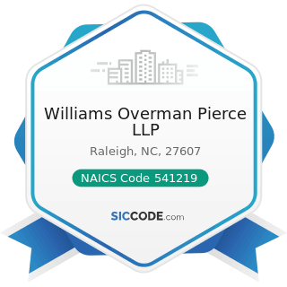 Williams Overman Pierce LLP - NAICS Code 541219 - Other Accounting Services