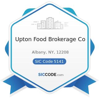 Upton Food Brokerage Co - SIC Code 5141 - Groceries, General Line