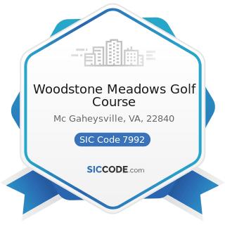 Woodstone Meadows Golf Course - SIC Code 7992 - Public Golf Courses