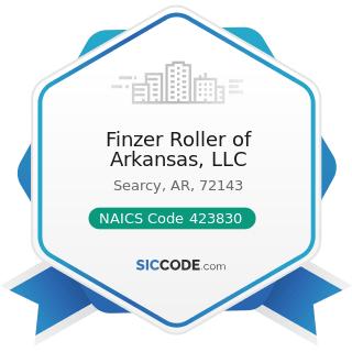 Finzer Roller of Arkansas, LLC - NAICS Code 423830 - Industrial Machinery and Equipment Merchant...