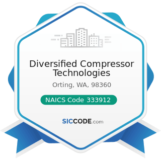 Diversified Compressor Technologies - NAICS Code 333912 - Air and Gas Compressor Manufacturing