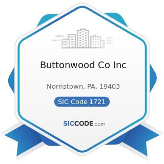 Buttonwood Co Inc - SIC Code 1721 - Painting and Paper Hanging