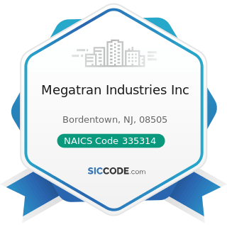 Megatran Industries Inc - NAICS Code 335314 - Relay and Industrial Control Manufacturing