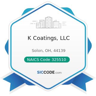K Coatings, LLC - NAICS Code 325510 - Paint and Coating Manufacturing