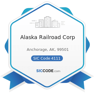 Alaska Railroad Corp - SIC Code 4111 - Local and Suburban Transit