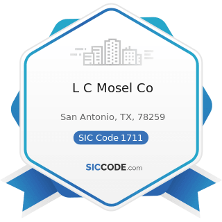 L C Mosel Co - SIC Code 1711 - Plumbing, Heating and Air-Conditioning