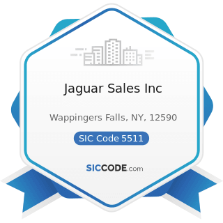 Jaguar Sales Inc - SIC Code 5511 - Motor Vehicle Dealers (New and Used)
