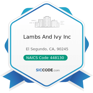 Lambs And Ivy Inc - NAICS Code 448130 - Children's and Infants' Clothing Stores