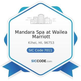 Mandara Spa at Wailea Marriott - SIC Code 7011 - Hotels and Motels