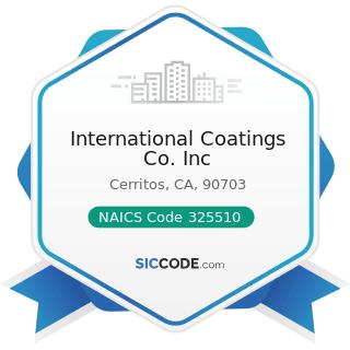 International Coatings Co. Inc - NAICS Code 325510 - Paint and Coating Manufacturing