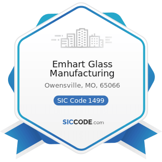 Emhart Glass Manufacturing - SIC Code 1499 - Miscellaneous Nonmetallic Minerals, except Fuels