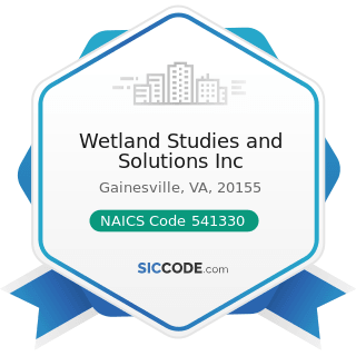 Wetland Studies and Solutions Inc - NAICS Code 541330 - Engineering Services