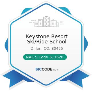 Keystone Resort Ski/Ride School - NAICS Code 611620 - Sports and Recreation Instruction