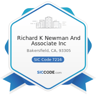 Richard K Newman And Associate Inc - SIC Code 7216 - Drycleaning Plants, except Rug Cleaning